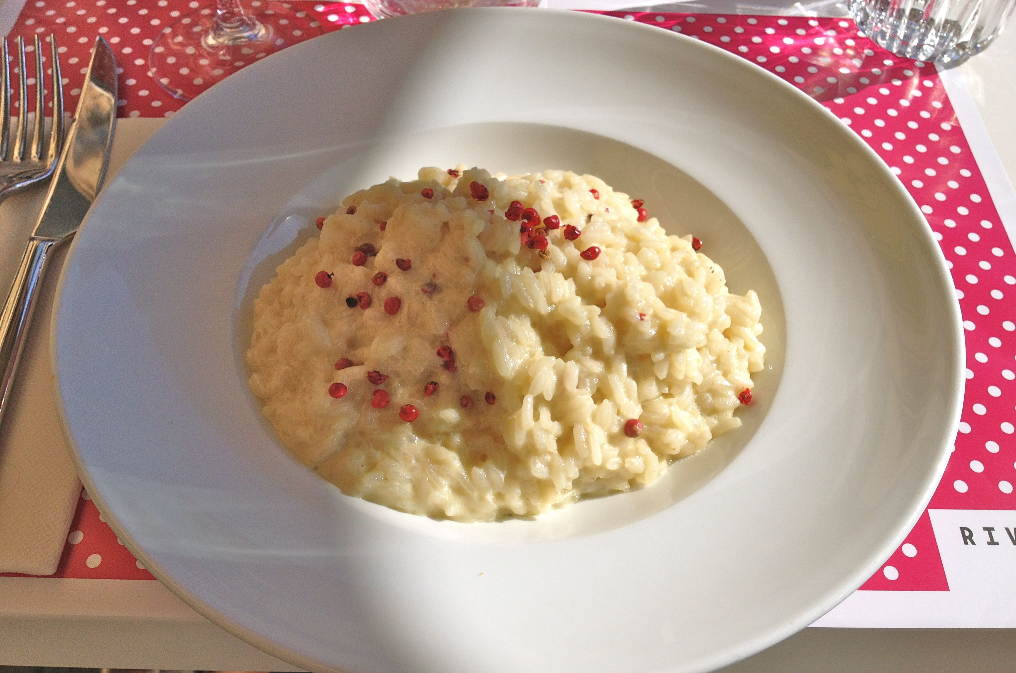 Pink Peppercorn Risotto