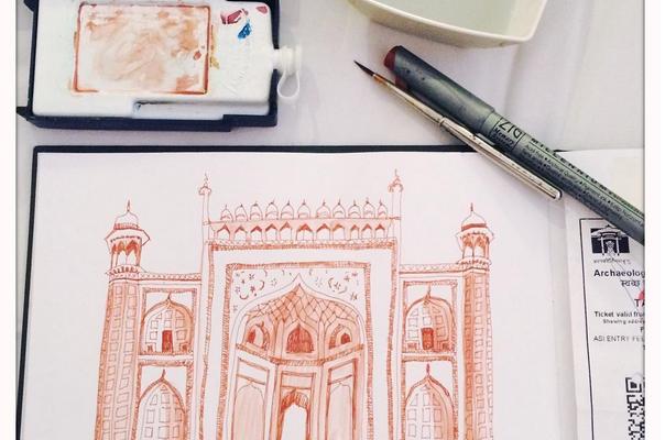 Drawing India