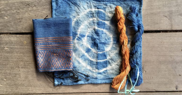 Playing with turmeric and indigo