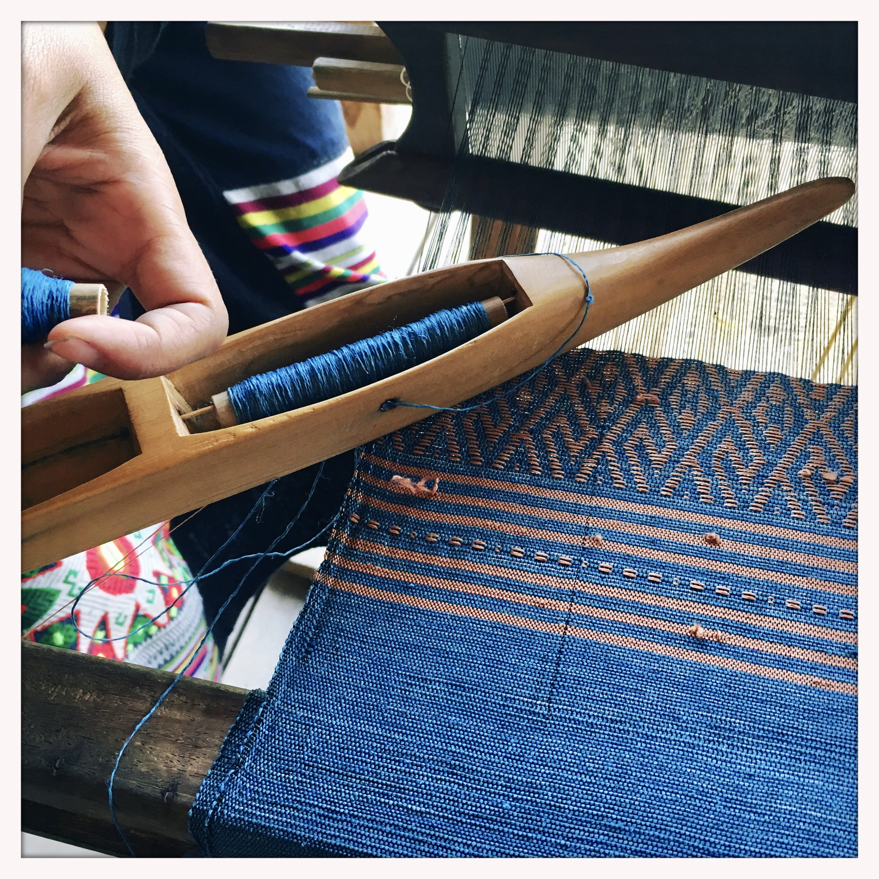An afternoon of weaving