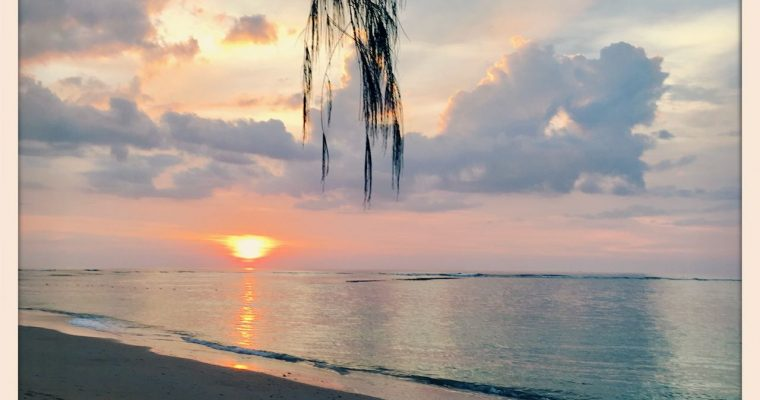 Very last asian sunset and swim in a warm sea