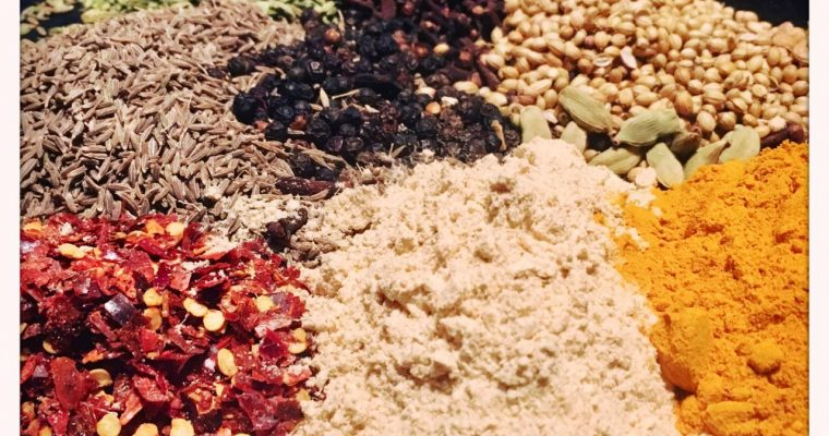 Preparing a Thai spice mix ready for some recipes